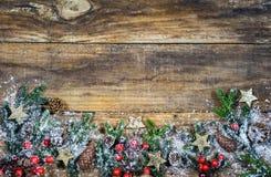 Украшение предпосылки рождества Стоковое Изображение RF