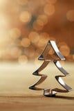 Украшение резца печенья рождественской елки Стоковое фото RF
