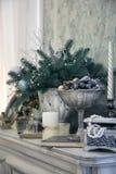 Украшение рождества в классическом стиле Стоковые Изображения RF