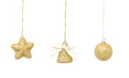 украшение рождества золотистое Стоковая Фотография RF