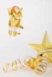 украшение рождества золотит Стоковые Фотографии RF