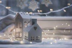 Украшение рождества и Нового Года крытое стоковое фото rf