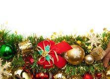 украшение рождества карточки предпосылки праздничное Стоковая Фотография RF