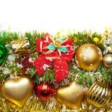 украшение рождества карточки предпосылки праздничное Стоковое Изображение