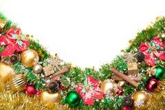 украшение рождества карточки предпосылки праздничное Стоковые Фотографии RF