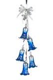 украшение рождества колоколов голубое Стоковое Фото