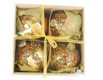 украшение рождества коробки стоковые изображения