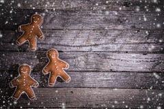Украшение рождества на деревянной предпосылке стоковое фото