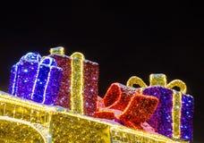 Украшение рождества на ноче стоковая фотография