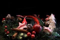 Украшение рождества перед черным backgound Стоковое Изображение