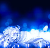 украшение рождества предпосылки искусства голубое Стоковая Фотография