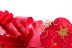 Украшение рождества сердца форменное Стоковое Изображение RF