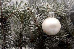 украшение рождества снежное Стоковые Фотографии RF