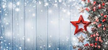 Украшение рождества с звездой Стоковые Изображения