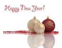 украшение рождества шариков шариков Стоковые Изображения RF