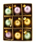 украшение рождества bubles коробки Стоковые Изображения RF
