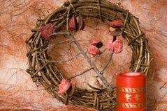 украшение рождества candels Стоковые Изображения