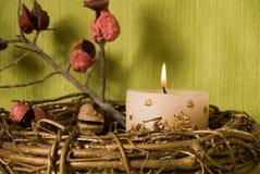 украшение рождества candels Стоковое Изображение RF