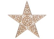 Украшение рождества звезды золота Стоковое Изображение RF
