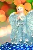Украшение рождества, диаграмма голубого ангела Стоковые Фотографии RF