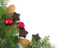 Украшение рождества и Нового Года изолированное на белизне Стоковое Изображение