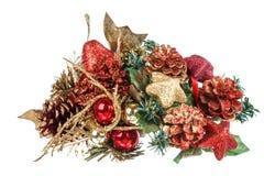Украшение рождества и Нового Года с орнаментами Стоковое Изображение RF