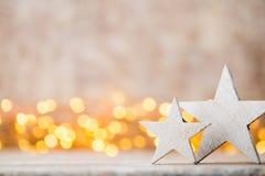 Украшение рождества на абстрактной предпосылке Стоковая Фотография