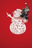 Украшение рождества на изолированном красном цвете вертикально Стоковое Изображение