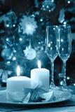 Украшение рождества на обеденном столе Стоковые Изображения RF