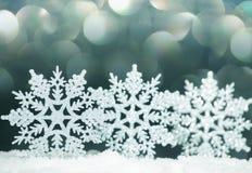 Украшение рождества на снежке Стоковое фото RF
