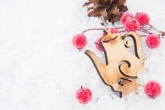 Украшение рождества на снежке Стоковые Изображения