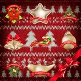 Украшение рождества Нового Года 10 eps Стоковое Фото