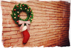 Украшение рождества подарка носка Стоковые Фото