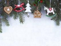 Украшение рождества, предпосылка grunge, рождественская открытка Стоковое Фото