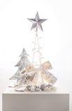 Украшение рождества серебряное Стоковая Фотография