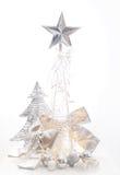 Украшение рождества серебряное Стоковые Изображения