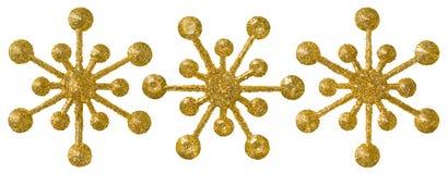 Украшение рождества снежинки, комплект хлопь снега Xmas декоративный Стоковые Изображения