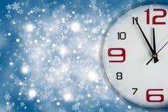 Украшение рождества с вахтами небо klaus santa заморозка рождества карточки мешка Стоковая Фотография RF
