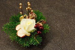 Украшение рождества с елевыми ветвями Стоковые Фотографии RF