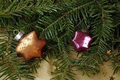 Украшение рождества с зеленой елью Стоковая Фотография RF