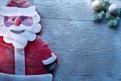 Украшение рождества с рождеством и безделушками отца. Стоковое Изображение RF
