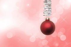 украшение 4 рождества черноты шарика предпосылки Стоковые Фотографии RF