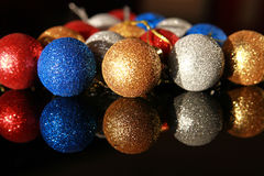 Украшение рождества - шарики Стоковые Изображения RF