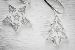 Украшение рождества для оформления интерьера как звезда и рождественская елка Стоковое Фото