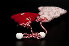 Украшение рождества handmade на черной предпосылке Стоковые Изображения RF