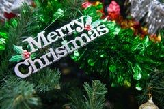 Украшение, рождественская елка детали в саде Стоковое Фото