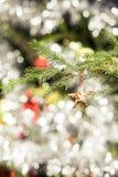 Украшение рождественской елки звезды Стоковое Фото