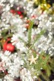 Украшение рождественской елки звезды Стоковая Фотография
