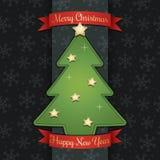 Украшение рождественской открытки бесплатная иллюстрация