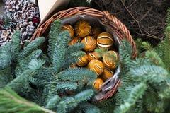 Украшение рождественской ярмарки Стоковые Изображения RF